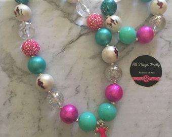 Trolls Bubblegum Bead Necklace & bracelet set
