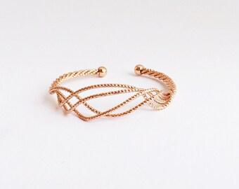 ROSÉGOLD jewelry, filigree cuff, friendship gift, bracelet rosegold, Armcandy