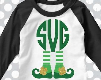 St Patrick's day svg, leprechaun svg, monogram svg, elf svg, svg, dxf, eps, png,shamrock svg, st patricks day SVG, shorts and lemons, print