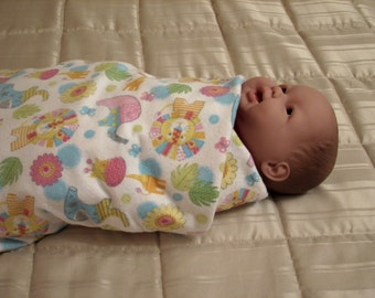 Swaddle blanket, receiving blanket, crib blanket, car seat blanket, handmade blanket, baby gift, flannel baby blanket, gift from grandmother