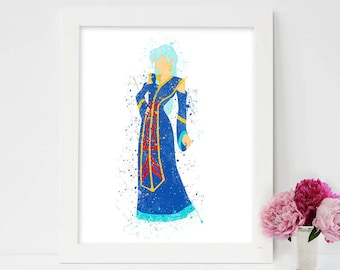 Princess Kida, Atlantis The Lost Empire, Baby Girl Nursery Art, Watercolor Art, Wall Decor, Modern Baby Room Print, Nursery room art, Kida