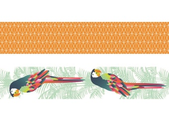 Set of 2 Masking Tape decorative Parrot - tape - label Ribbon - Ribbon sticker - 11004618