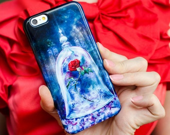 Enchanted rose Phone case / Beauty and the Beast 2017 / for iPhone, Samsung, other