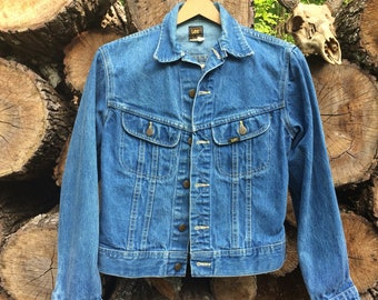 Vintage 80s Lee Riders Union Made Denim Jacket Sz Womens 18 USED
