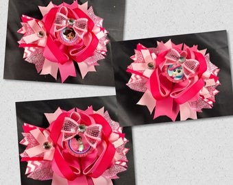 Nella the knight bow Nella the princess Knight bow over the top bow nella the princess birthday bow nella the princess birthday bow