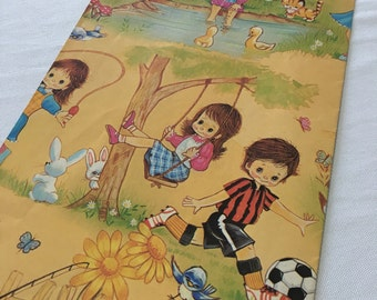 Vintage | Colourful | Little Boys & Girls | Wrapping Paper
