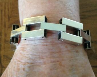Sterling Silver Mid Century Link Bracelet