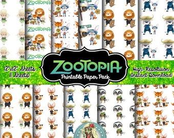 Zootopia, Zootopia Birthday, Zootopia Party, Zootopia Invitation, Zootopia Party Supplies, Zootopia Clipart, Zootopia Clip Art, Scrapbook Pa