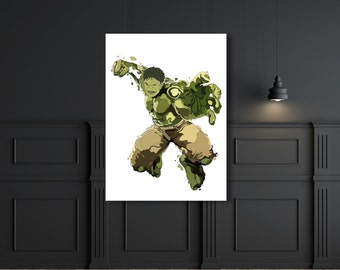 Hulk Bruce banner marvel digital artwork print.