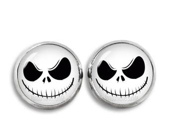 Jack Skellington Earrings Jack Stud Earrings Jewelry Geeky Fangirl Fanboy