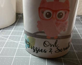 Owl Fizzies n Scrub Mug