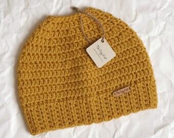 SALE // 40% OFF // Haley: The Messy Bun Beanie // Pony Tail Hat // Top Knot Beanie // Women's Beanie // Winter Hat // Crochet Hat