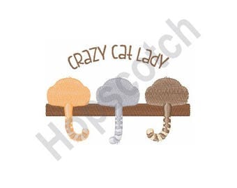 Crazy Cat Lady - Machine Embroidery Design