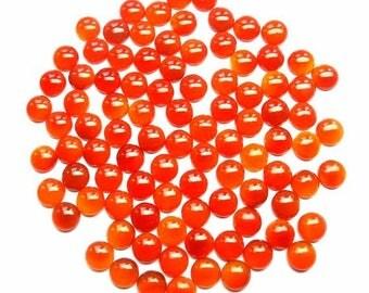 10 Pieces Lot 4mm Carnelian Round Cabochon gemstone