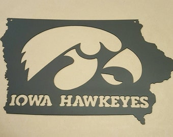 Iowa Hawkeyes Football Big Ten College Sign