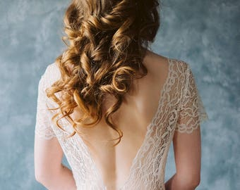 "Lace wedding dress ""Creme brulee"""