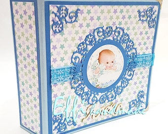 Baby Scrapbook, Handmade Baby photo album,Custom Baby Photo Album, Custom Baby Memory Book, Custom Baby Gift, Custom Baby Shower Gift