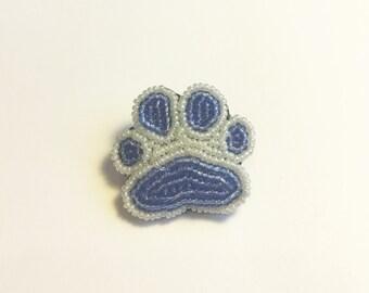 Beaded paw print pin