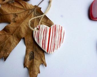 Handmade Ceramic Heart Shaped Ornament