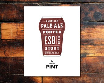Beer Print - (English) Pint