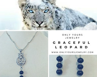 Graceful Leopard Necklace and Earrings