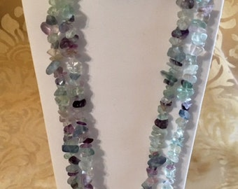 "Rainbow Fluorite 34"" Strands"