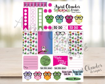 Owl Planner Stickers