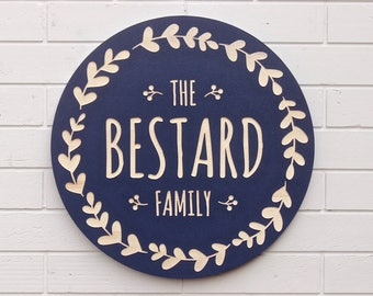 Wedding Gift Last Name Establish, Last name wood sign, Wood sign personalized, Family name wood sign Blue personalized wooden last name sign