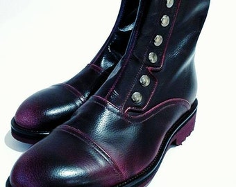 Victorian boots in calf