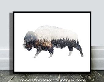 Bison Print, Bison Digital Prints, Bison Photography, Bison  Photo Print, Printable Bison, Bison Wall Art Print, Bison Poster Print