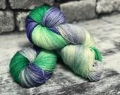 Hand Dyed Yarn - 50/50 Silk/Merino Wool - Fingering Weight