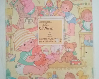 Vintage Baby Wrapping Paper, Gift Wrapping Paper, Baby Shower Gift Wrap, Baby Paper, Wrapping Paper Sheets, Baby Crafts, Gibson Gift Wrap