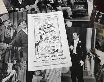 """Vintage 1960's My Fair Lady Program and 11 ea. 8"""" x 10"""" photos of cast Two autographed"""