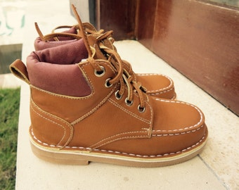 KIDS SHOES | William Timberland Boot/kids leather shoes/1st walker shoe/Toddler Shoes/EU 25 - 32