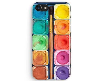 Watercolor palette set - iPhone 7 case, Samsung Galaxy S7 case, iPhone 6, iPhone 7 plus, iPhone SE, iPhone 5S, 1C044A