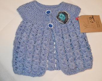 6 - 12 Months Girls' Blue Cardigan