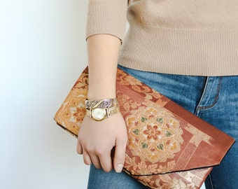 Japanese Kimono Obi Clutch | Gift for Her | Obi Bag | Kimono Bag | Japanese Clutch | Japanese bag | Obi |