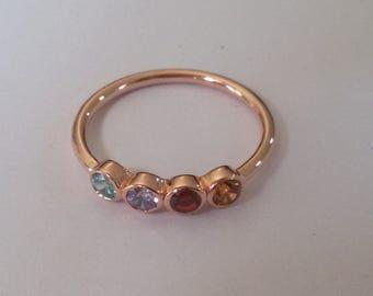 14k Gold Birthstone Ring