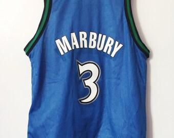 b6a0ea06d Stephon Marbury vintage stephon marbury minnesota timberwolves champion  jersey boys size medium 1012