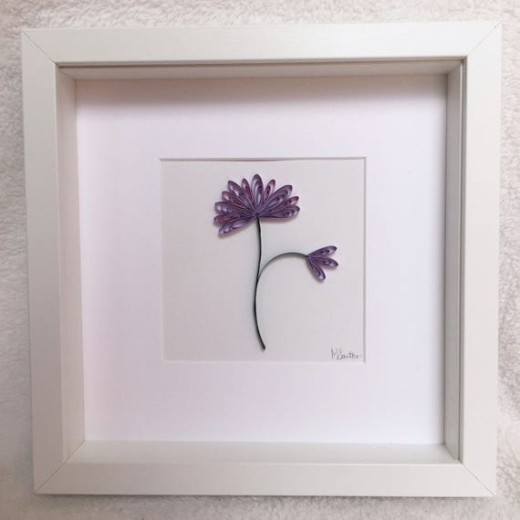 Purple Daisy - Wall Art - Paper Quilling by MiscDesignPR | Catch My ...