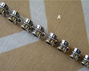 Bail Beads, Antique Silver Tone Bail Beads, Bail Connectors, Pendant Bails, Necklace Connectors, Pendant Charm, Jewelry Findings