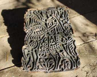 Antique Indian? Carved Wooden Textile Printing Block