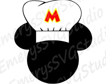 SVG DXF File for Chef Mickey
