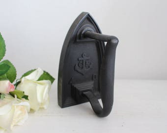 Vintage French Flat Iron - Anchor Motif - Bookend