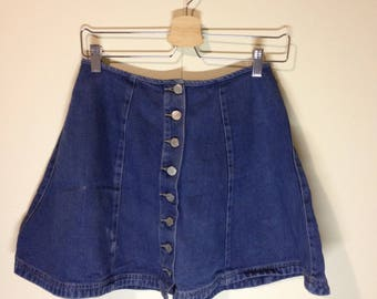 mini denim button up skirt