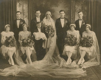 ANTIQUE WeDDinG Photo DOWNLOAD Wedding Party - Instant DIGITAL Vintage PHotograph - Junk Journal Altered Art Card Making Scrapbooking no880