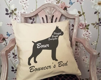 Personalised BOXER Dog Cushion or Pet Bed