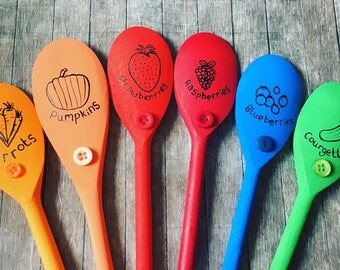 Vegetable garden markers. Allotment spoon labels