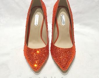 Swarovski Crystals Rhinestones Prom Bridal Shoes Pumps Heels - Strassing service - Send us your shoes!