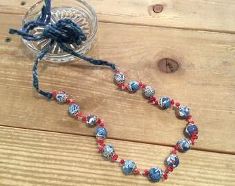 Liberty print necklace